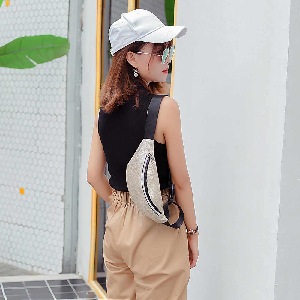 Mode Vrouwen Bling Pailletten Schouder Tas Borst Zakken Grote Capaciteit Rits Taille Packs Buiten Harajuku Telefoon Portemonnee