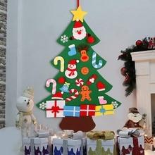 3D войлочная Рождественская елка Настенный 3 фута комплект для рождественской елки с орнаментом для детей рождественские DIY украшения