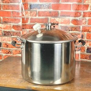Image 2 - 25л перегонный куб, бойлер, бак, ферментер с крышкой колокольчика дистилляция, ректификация , нержавеющая сталь  304