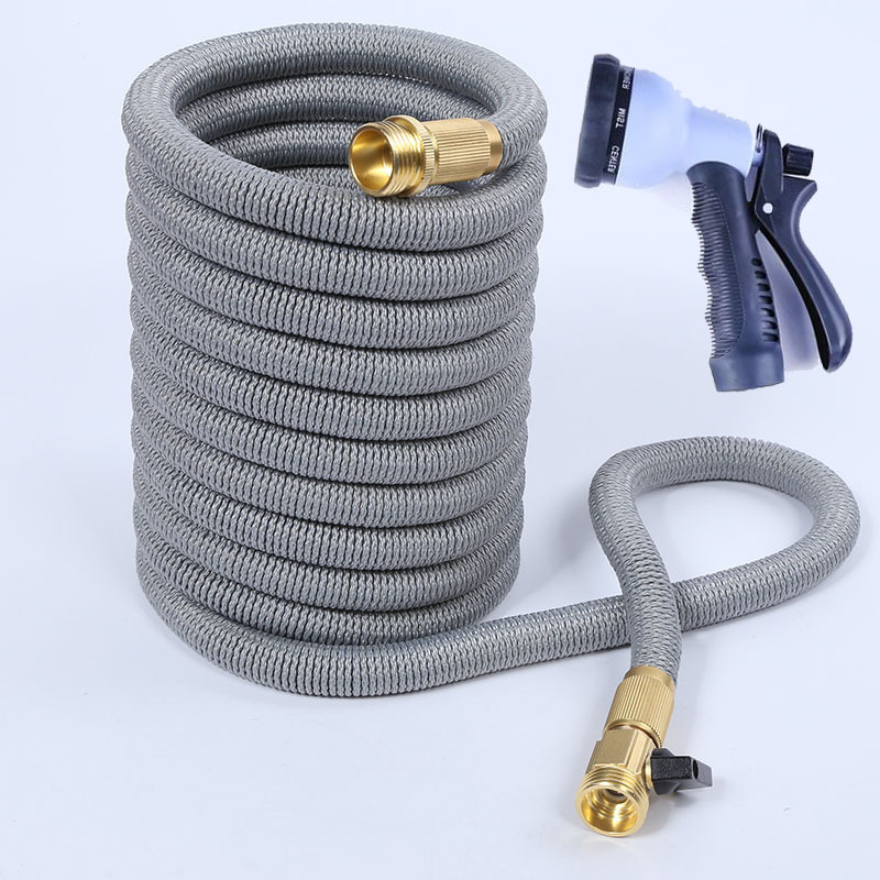 100FT New Style Copper Foreign Trade Hot Sales Cold Freezing Household Vehicle Cleaning Water Torch Three Times Telescopic Pipe