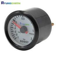 Round Earth 52mm Blue backlight Auto Car turbo boost gauge turbin gauge bar pointer meter unit bar and vac gauge meter