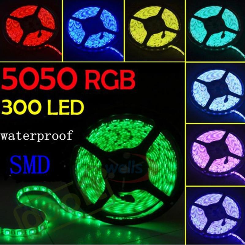 100M 5m/roll Led Tape Flexible RGB White LED Light Strip IP65 12V 3528 5630 5050 SMD 30leds/m 60leds/M Holiday Ligh Ship To DHL
