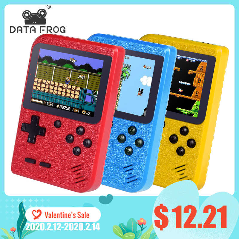 Data Kikker Mini 8 Bit Handheld Game Console 2 Speler Gamepad Ingebouwde 400 Games 3.0 Inch Retro Video handheld Player Game Console