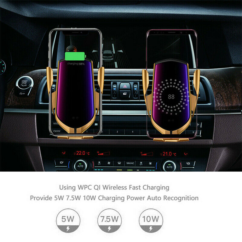 Image 5 - Automatic Clamping Wireless Car Charger Mount Infrared Sensor QI Induction Charging Holder For iPhone X XS Max Samsung xiaomi 9-in Car Chargers from Cellphones & Telecommunications on AliExpress