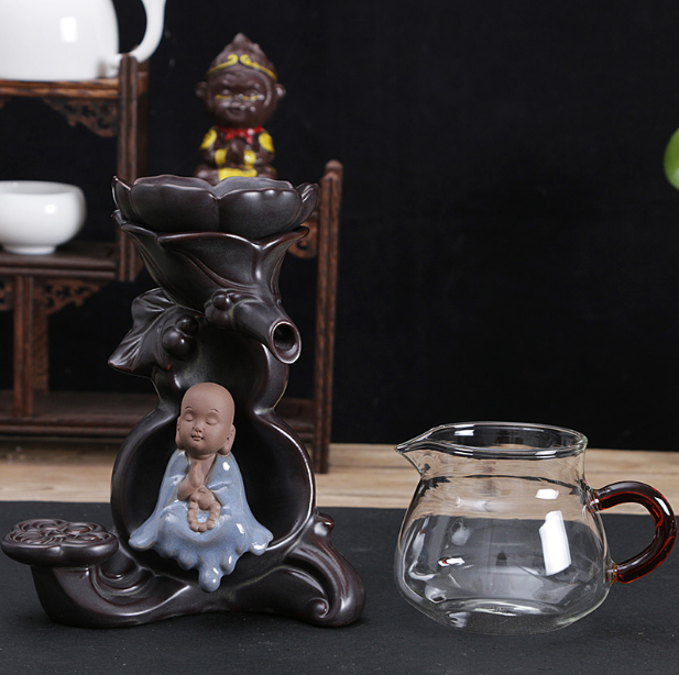 Creative Ceramic Kung Fu Small Monk Tea Strainer Tea Set Drinkware Accessories Lotus Tea Filter Shower Cooking Apparatuses LF524