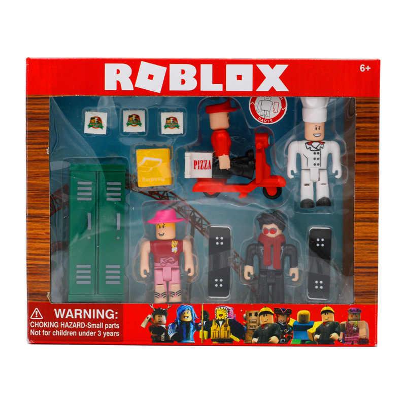 Roblox Actiefiguren Werken Op Een Pizza Plaats Game 4 Stks/pak 7Cm Pvc Suite Poppen Speelgoed Model Beeldjes Voor collectie Voor Kinderen