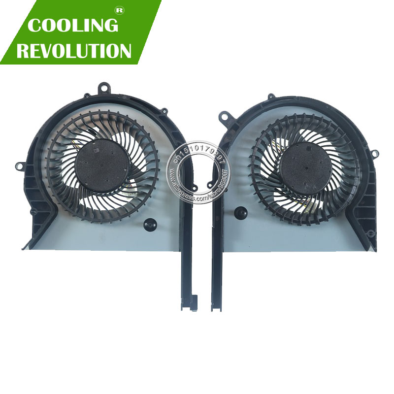 Laptop CPU GPU Cooling Fan DFS593512MN0T DFS2013121A0T DC12V 1A 4Pin For ASUS GL703GE GL703GE-ES73