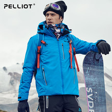 2019, pelliot En Outdoor Skikleding mannen Winter Double-Board Reizen Sport Jas Professionele Dikke Warm Ademend Katoenen Pak(China)