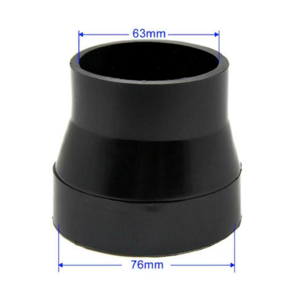 Universal Car Air Intake System Air Filter Pipe Tube Hose Black Rubber car Air Intake Rubber Connector Auto parts 76-63mm