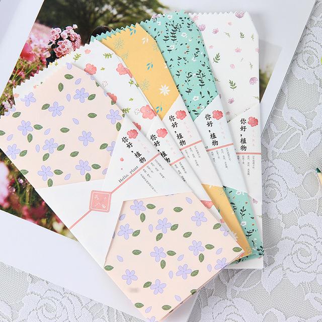 Floral Printed Envelopes Set, 20 Pcs