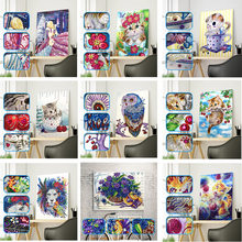 5D Animals Cross Stitch Diamond Embroidery Drill diy Diamond Painting Special Shape Diamond Cartoon cat dog Character For Gifs
