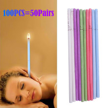 100pcs/set Healthy Care Ear Candle Ear Treatment Ear Wax Removal Cleaner Ear Coning Treatment Indiana Therapy Fragrance Candling