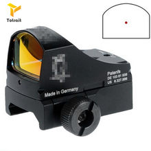 Totrait tactical sight iii docter mini red dot sight auto brilho estilo reflexo holográfico ponto vista para a caça airsoft(China)