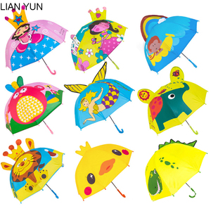 cartoon Kids Umbrella For Girls Boys Child Parapluie Kid Enfant Paraguas Parapluie Guarda Chuva Paraplu Sombrilla Ombrello Rain(China)