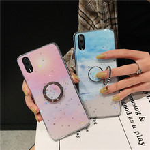 Finger Ring Phone case For iPhone 6 6S iPhone 7 8 Plus Bling Glitter Soft TPU Black Cover For iPhone X XS Max XR case Fundas flower printed shell finger ring stand phone case for iphone x xr xs max soft tpu cover for iphone 7 8 plus 6 6s gli case coque