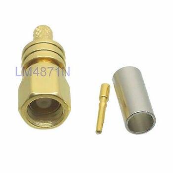 DHL/EMS 100 piezas conector SMC hembra jack engarzado RG174 RG316 LMR100 cable recto-d2