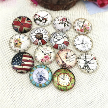 10pcs 10/12/20/25mm Glass Cabochon Mixed Round Clock Photo Cameo Cabochon Settings For Diy Jewelry Making Cabochon Findings 12mm mixed style colorful round glass cabochon dome jewelry finding cameo pendant settings 50pcs lot k05139