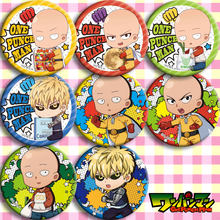 Brdwn ONE PUNCH MAN ไซตามะ Genos Senritsu ไม่มี Tatsumaki Fubuki Mumen Dider Garou Cosplay Badge(China)