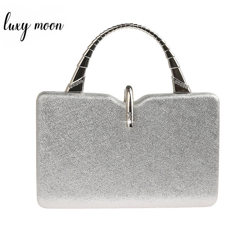 Silver Clutch Bags For Women Pu Leather