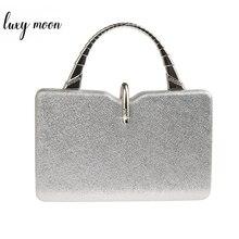 Silver Clutch Bags for Women PU Leather Handbags Luxury Designer Wedding Clutch Purses Elegant Shoulder Bag bolso mujer ZD1358