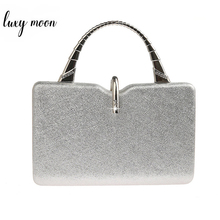 Srebrne kopertówki damskie torebki ze skóry PU luksusowy projektant torebki kopertówki ślubne elegancka torba na ramię bolso mujer ZD1358