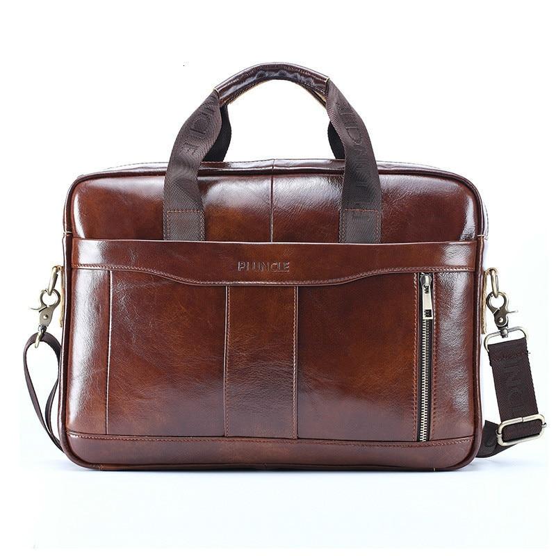 Genuine Briefcase Messenger Bag Men Leather Man Document Layer Cowhide Portable Oblique Satchel Designer Luxury Handbags Purses