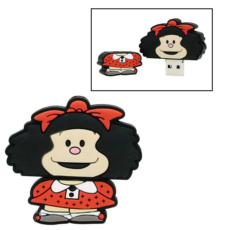 Cute Orangutan USB Flash Drive Mafalda USB 2.0 Pen Drive 128GB Usb Stick  Pendrive 64GB Flash Card 32GB Flash Memory Stick Disk