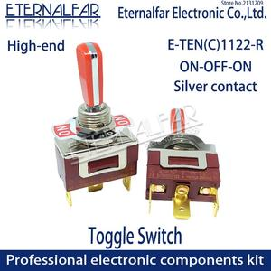 12MM E-TEN1122 High-end Quality Silver Contact SPST 16A 250V AC ON-OFF-ON 3Pin Reset Rocker Toggle Slide Switch Waterproof