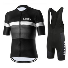 2021 Pro Team Summer Cycling Jersey Set Bicycle Clothing Breathable Men Short Sleeve Shirt Bike Bib 20D Gel Pad LECOL