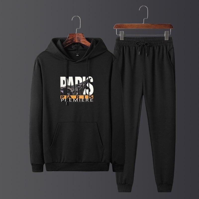 Autumn New Style Hoodie Men's Teenager Trend Men Hoodie Suit Hooded Team Daily Life Running Leisure Suit