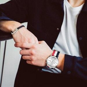 Image 3 - MEGIR מקורי גברים שעון נשים שעונים אופנה ספורט קוורץ שעונים בד רצועת שעוני יד Relogio Masculino שעון גברים 2011