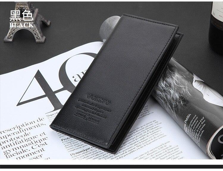2019 Hot PU Wallet Trend Men's Long Multi Card Soft Leather Wallet  Lykj-yx