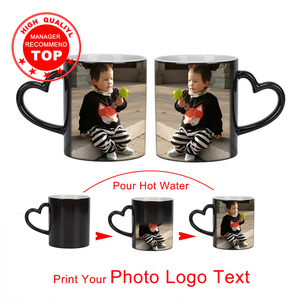 Drop shipping DIY Photo Magic Color Changing Mug,custom your photo on Tea cup,unique Ceramic Coffee Cup best gift for friends(China)