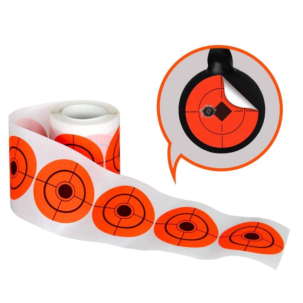 250Pcs 7.5 Diameter Adhesive Shooting Target Round Splatter Target Stickers Hunting Shooting Practice
