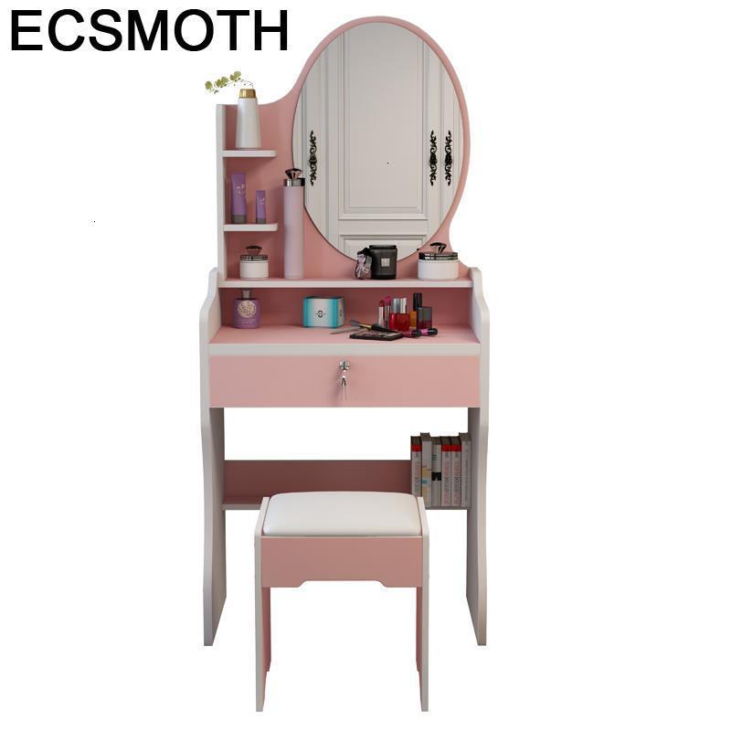 Aparador Schminktisch Mdf Vanity Dormitorio Slaapkamer Drawer Tocador De Maquillaje Wood Korean Quarto Penteadeira Table Dresser