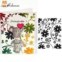 Kokorosa Plant Set Clear Stamps Rubber Stamp Scrapbooking Album Decor Transparent Decoration