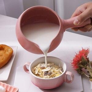 Image 4 - Seramik yapışmaz Mini çikolatalı süt peynir ısıtma tava soslar mutfağı çorba Pan şehriye yulaf ezmesi bebek maması kazan için gaz sobası