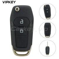 Remotekey EB3T-15K601-BA 2 botão 433 mhz para ford ranger f150 2015 2016 2017 1919602 oem dobrável chave