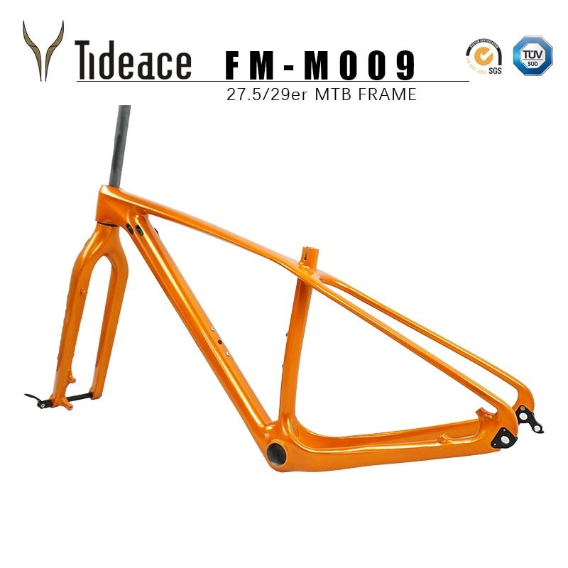 Rigid Frame And Fork 2019 Full Carbon MTB Framesets Carbon Fiber Mountain Bike Frameset 29er*15/17/19/21'' With 29er Fork