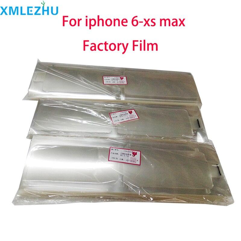 Защитная пленка Заводская пленка для iPhone 11 pro XS XR XS max 6 6s 6p 7 8 plus защитная пленка Guar белый черный