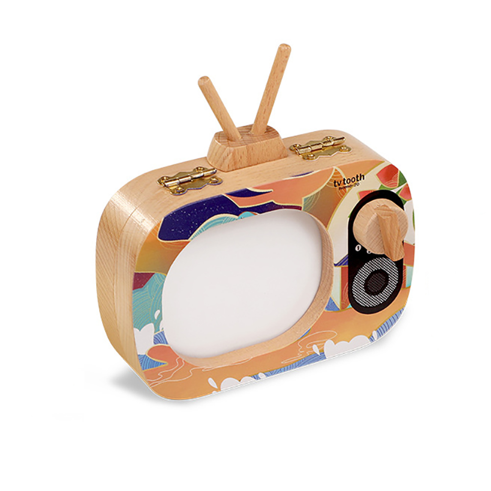 Storage Kids Deciduous Save Portable TV Shaped Wooden Souvenirs Collection Gift For Boys Girls Non Toxic Baby Teeth Box