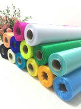 Rouleau de fil de verre, Tulle pur, en tissu Organza, pour housse de chaise, pour jupe de Table, TUTU, 50M et 48cm