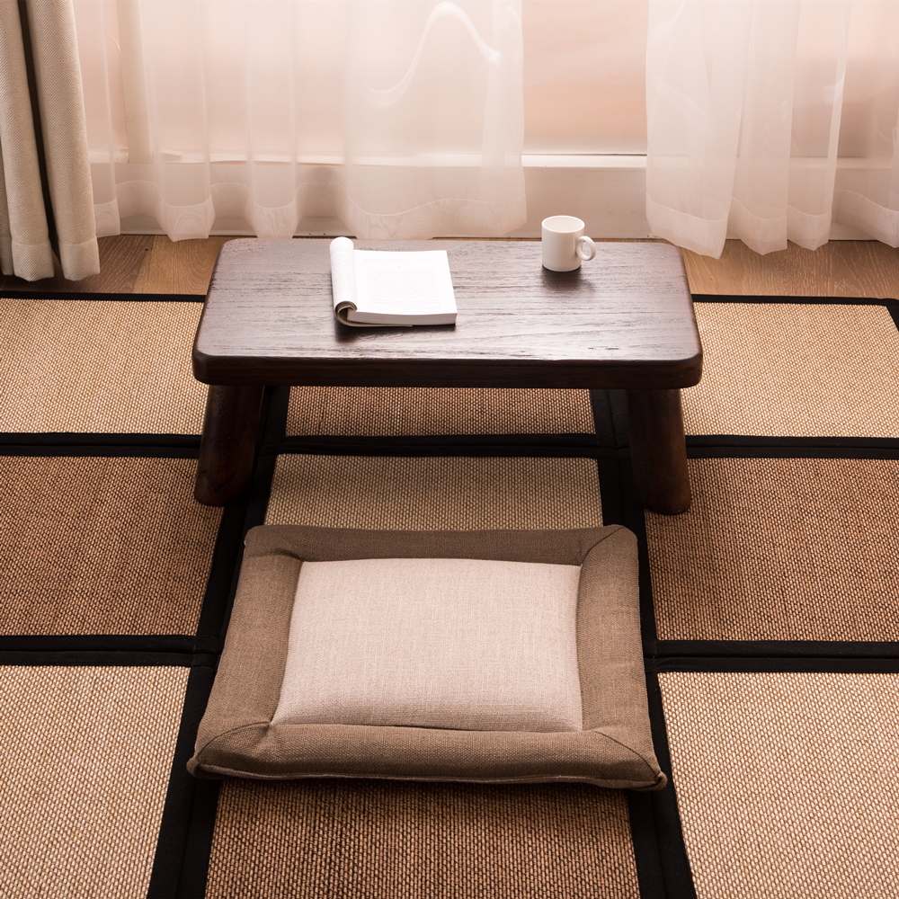 Finestra in Legno Massello Bay Tavolo in Stile Giapponese Tè Antico Letto Tavolo Basso Tavolo Informale Tavolo Del Salotto - 4