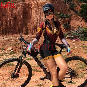kafitt Triathlon Cycling Suit Fato Pro Cycling Captain manga comprida Maillot Ciclismo Ladies Summer respirável collant casual wear 1