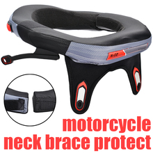 1PC High Quality PU PVC Neck Guard Motorcycle Neck Brace Protector For Motocross Offroad Racing Protection Sports Gear цена