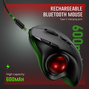 Image 3 - Gelée peigne Bluetooth Trackball souris Rechargeable 2.4G USB sans fil et Bluetooth souris ergonomiques pour ordinateur portable tablette PC Mac Android
