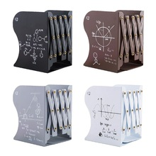 Shelf Bookends-Support-Stand-Holder Bookrack-Organizer Retractable Office-Supplies Metal