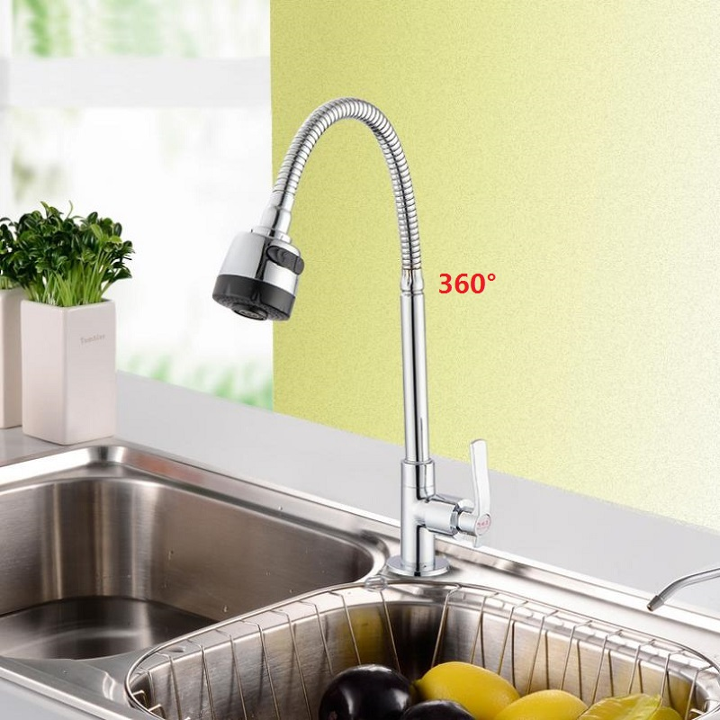 Wall Mount Kitchen 360 Rotating Swivel Copper Basin Sink Faucet Single Handle Cold Tap Fold Expansion Basin Sink Tap