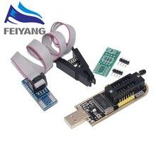 Electrónica Inteligente CH340 CH340G CH341 CH341A 24 25 Series EEPROM Flash BIOS PROGRAMADOR USB con Software y controlador, 10 Uds.