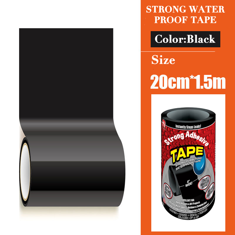 152cm Flex Leakage Repair Waterproof Tape PVC Adhesive Tape For Bathroom Washing Basin Water Pipe Sealing 1 Roll